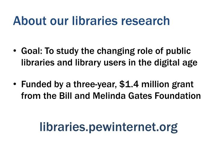 About our libraries research