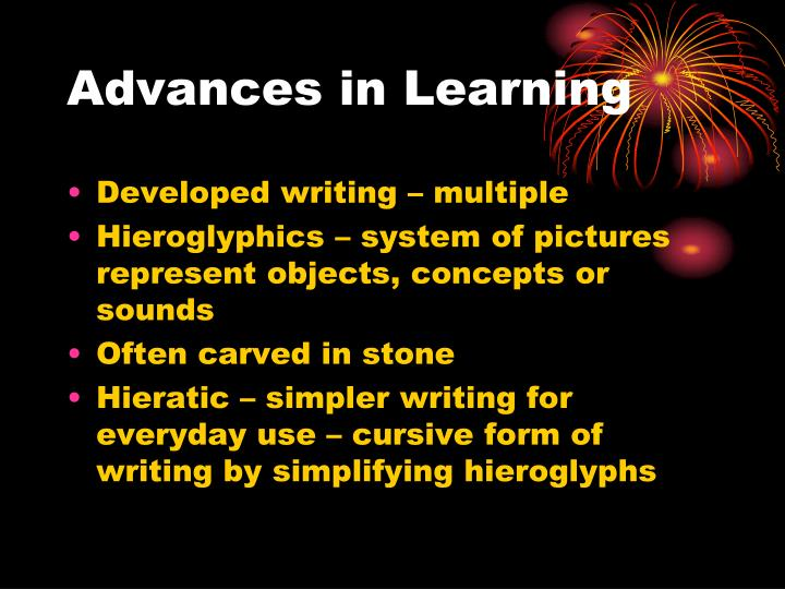 Advances in Learning