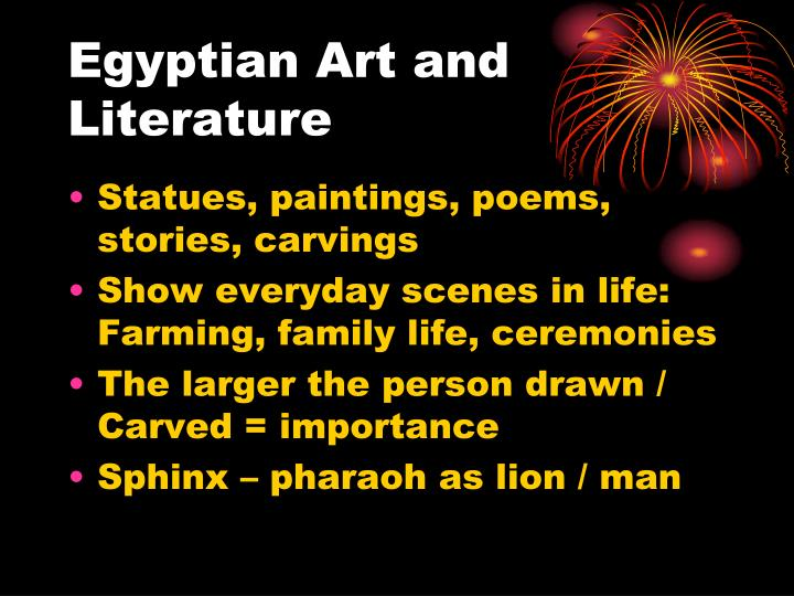 Egyptian Art and Literature