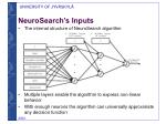 neurosearch s inputs