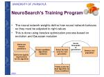 neurosearch s training program
