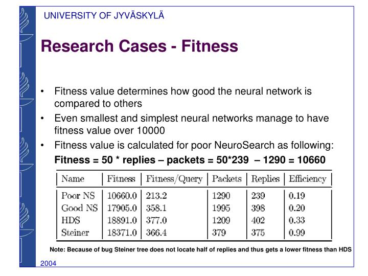 Research Cases - Fitness
