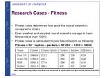 research cases fitness