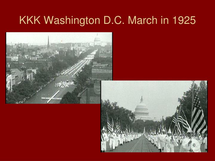 KKK Washington D.C. March in 1925