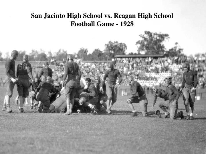 San Jacinto High School vs. Reagan High School Football Game - 1928