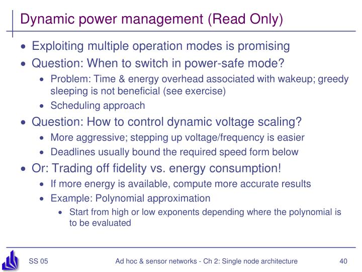 Dynamic power management (Read Only)