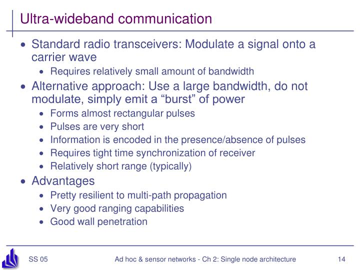 Ultra-wideband communication