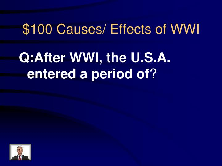 100 causes effects of wwi
