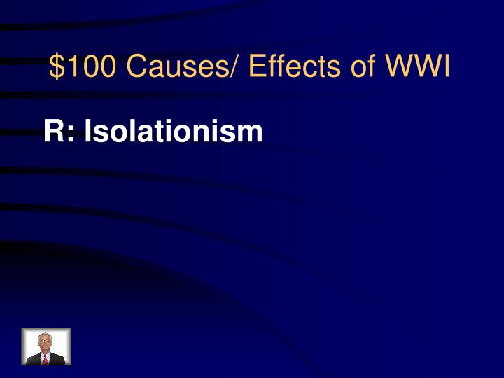 100 causes effects of wwi1