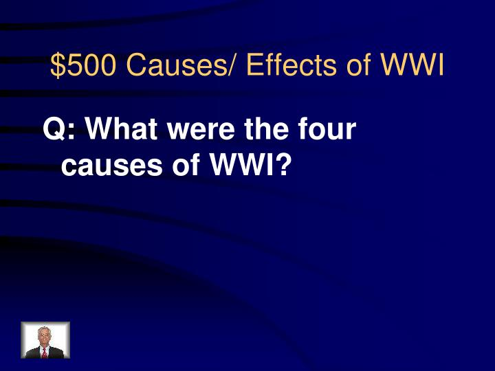Q: What were the four causes of WWI?