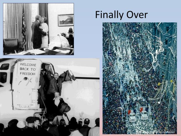 Finally Over