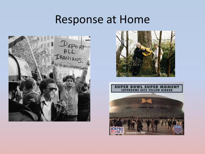 Response at Home