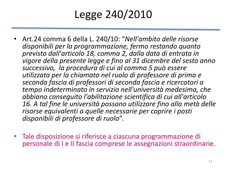 Legge 240/2010