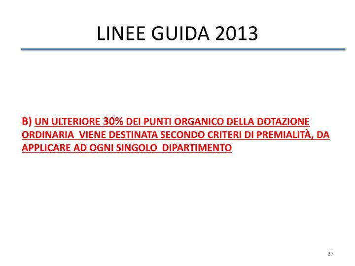 LINEE GUIDA 2013