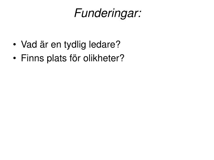 Funderingar:
