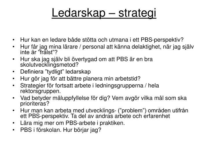 Ledarskap  strategi