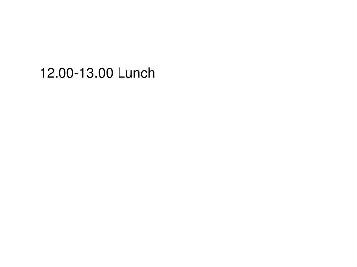 12.00-13.00 Lunch