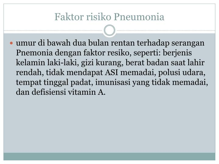 Faktor risiko Pneumonia