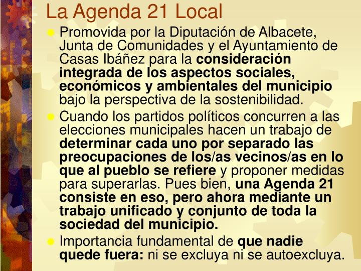 La Agenda 21 Local