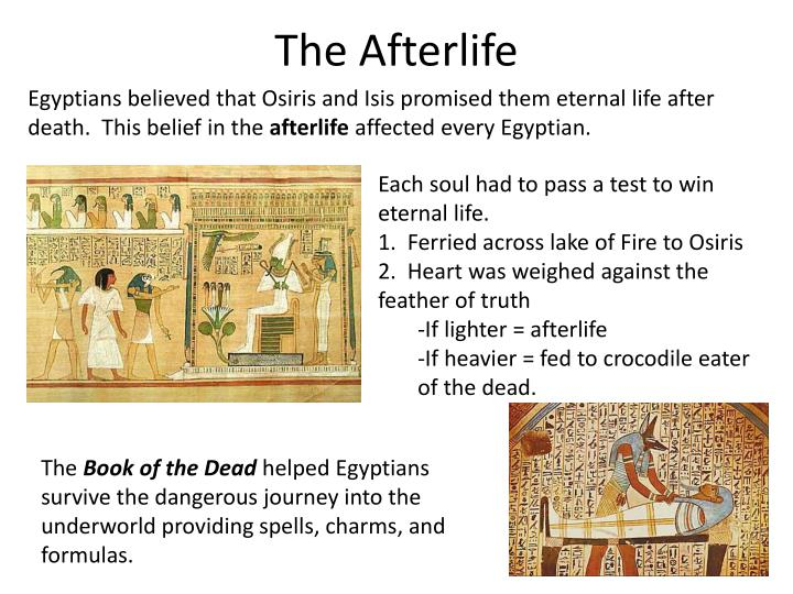 Into The Afterlife: Ancient Egypt PowerPoint Presentation