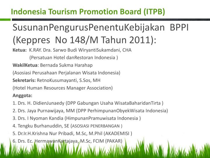 Indonesia Tourism Promotion Board (ITPB)