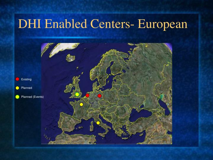 DHI Enabled Centers- European