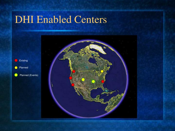 DHI Enabled Centers