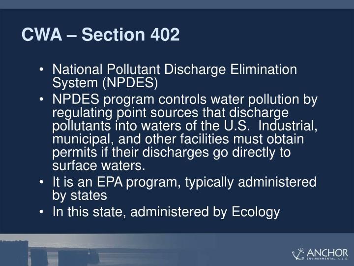 CWA – Section 402