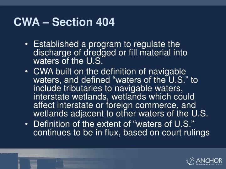 CWA – Section 404