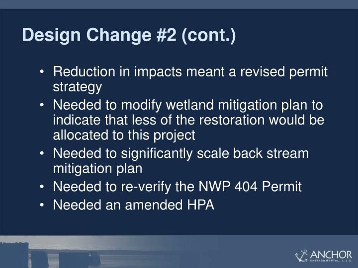 Design Change #2 (cont.)