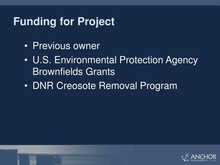 Funding for Project