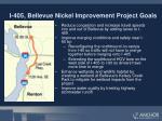 i 405 bellevue nickel improvement project goals