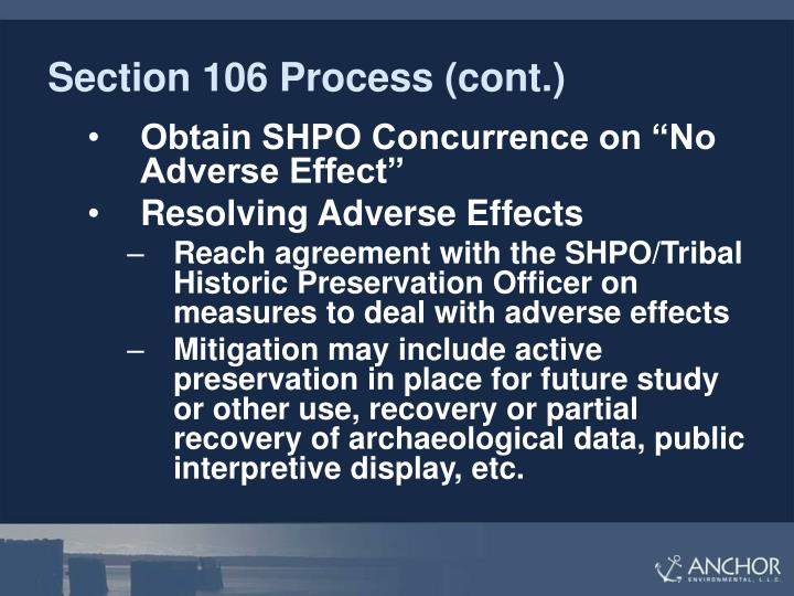 Section 106 Process (cont.)