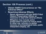 section 106 process cont
