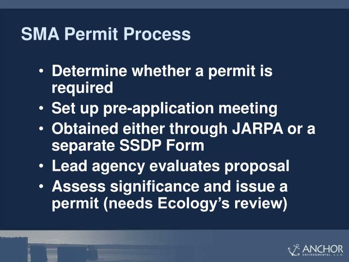 SMA Permit Process