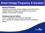 email outage frequency duration4