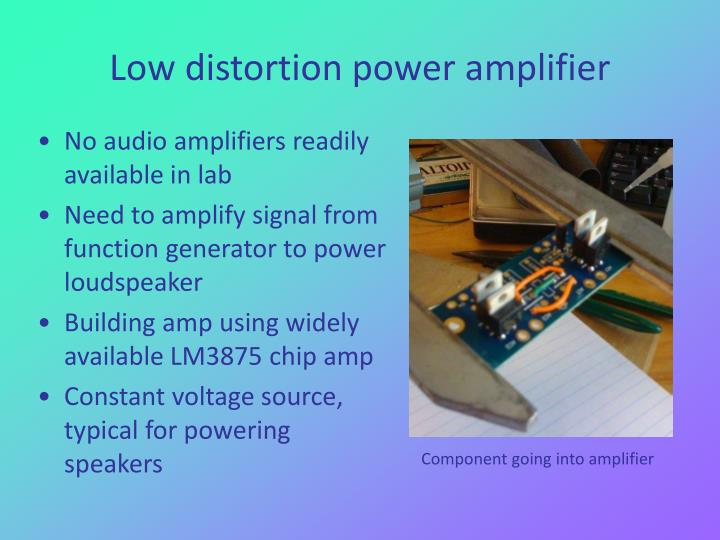 Low distortion power amplifier