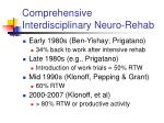 comprehensive interdisciplinary neuro rehab