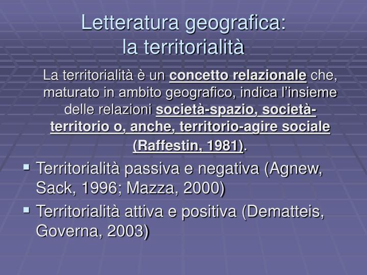 Letteratura geografica: