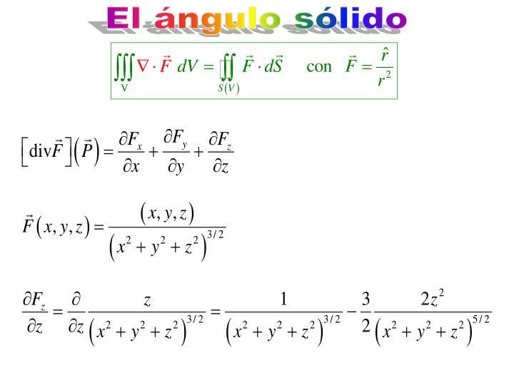 El ángulo sólido