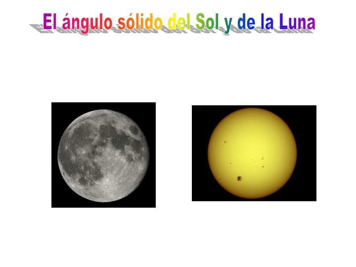 El ángulo sólido del Sol y de la Luna