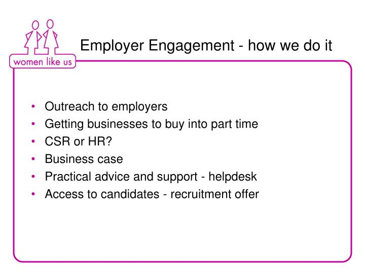 Employer Engagement - how we do it