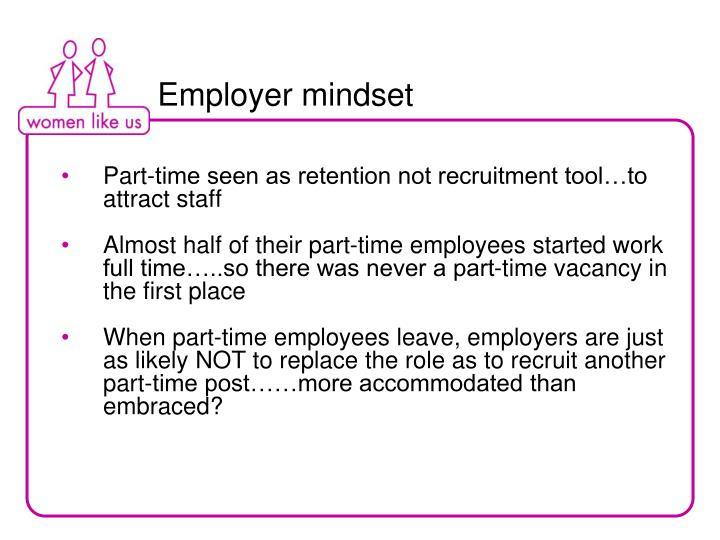 Employer mindset