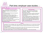 part time employer case studies