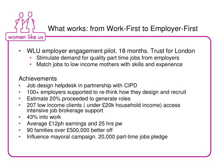 What works: from Work-First to Employer-First