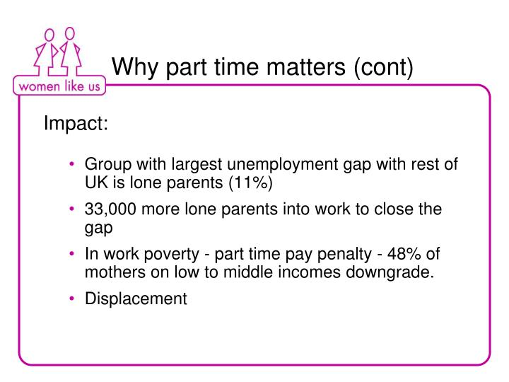 Why part time matters (cont)