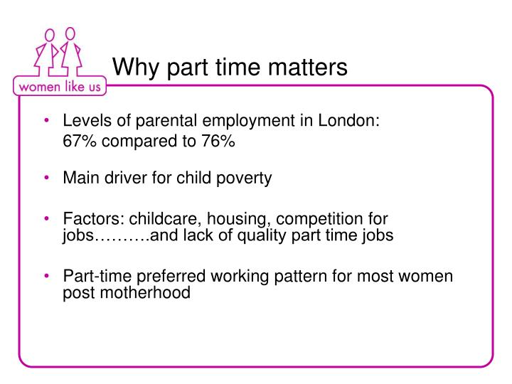 Why part time matters
