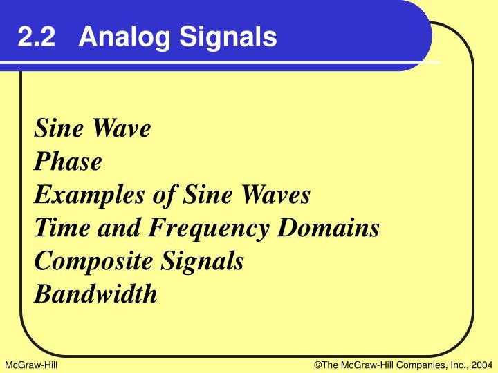 2.2   Analog Signals