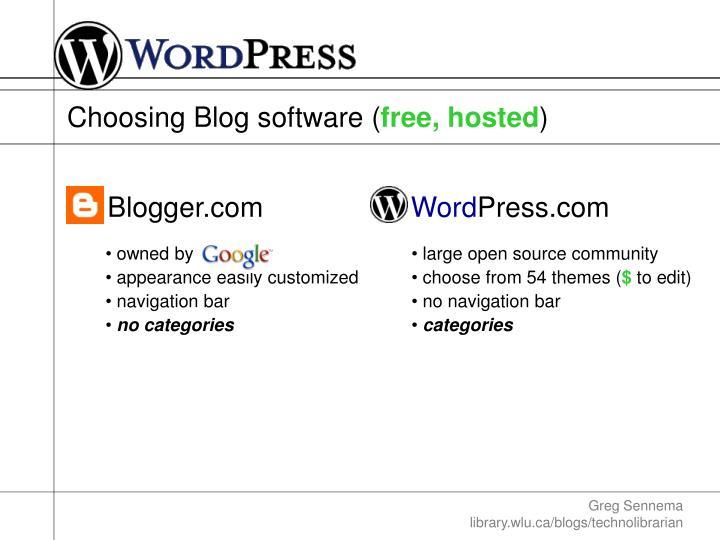Choosing Blog software (
