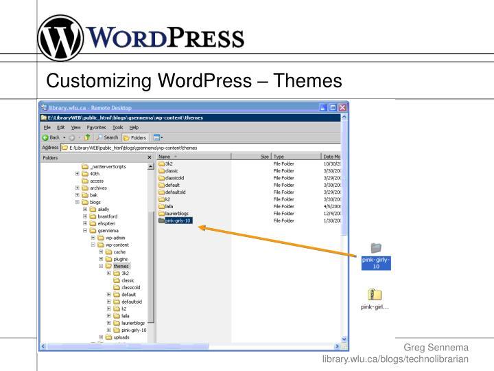 Customizing WordPress – Themes